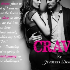 Exclusive Offer- Get Crave by Jennifer Dawson free for a limited time….